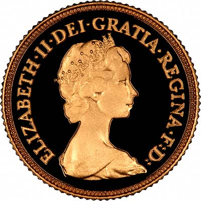 Obverse of 1982 Proof Half Sovereign