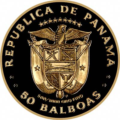 Reverse of Panama 100 Balboas of 1982