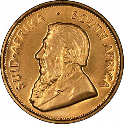 Obverse of South African Tenth Ounce Krugerrand