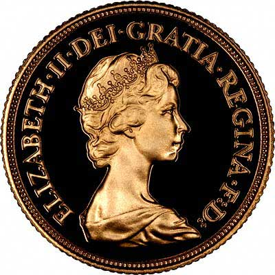 Obverse of 1983 Gold Sovereign