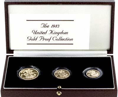 Three Coin Gold Set of 1983