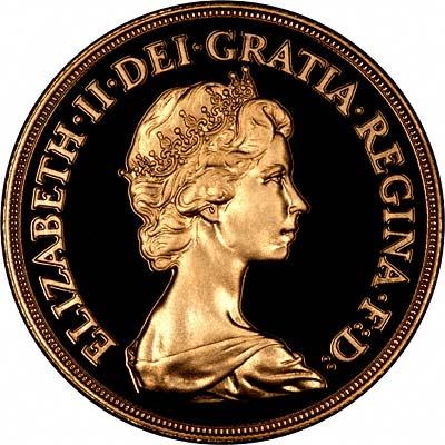 Obverse of 1983 £2 Gold Proof