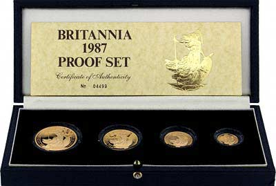 1987 Britannia Gold Proof Set With Certificate