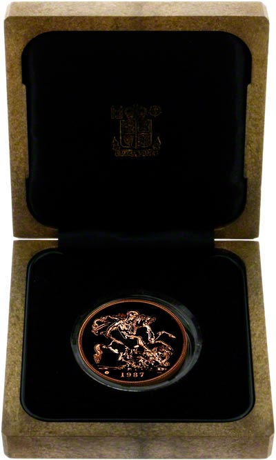 1987 Brilliant Uncirculated Five Pound Gold Coin in Presentation Box'