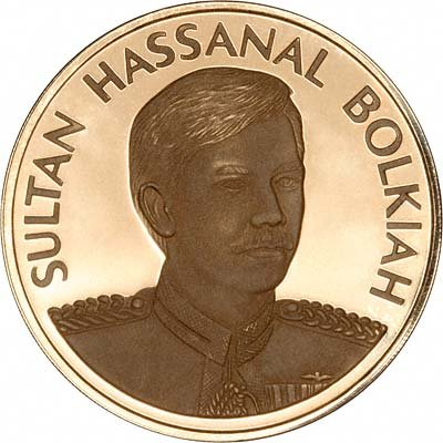 Obverse of 1998 Brunei Gold 1,000 Dollars