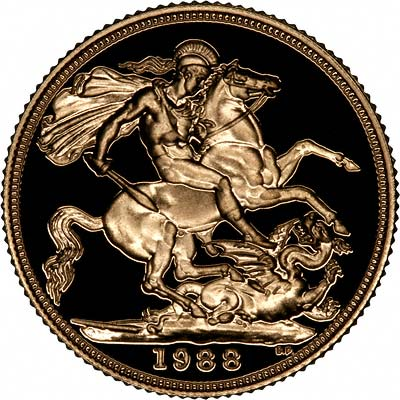 Reverse of 1988 Gold Sovereign
