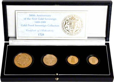 1989 Gold Proof Set in Box