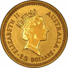 Obverse of One Ounce Gold Australian Kangaroo