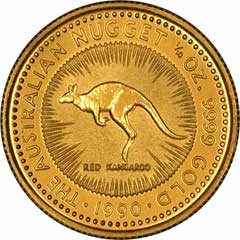 Reverse of One Ounce Gold Australian Nugget