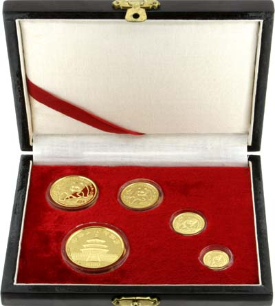Chinese Gold Panda Proof Coin Set in Box