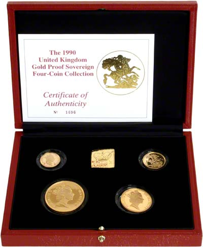 1991 Gold Proof Set in Box