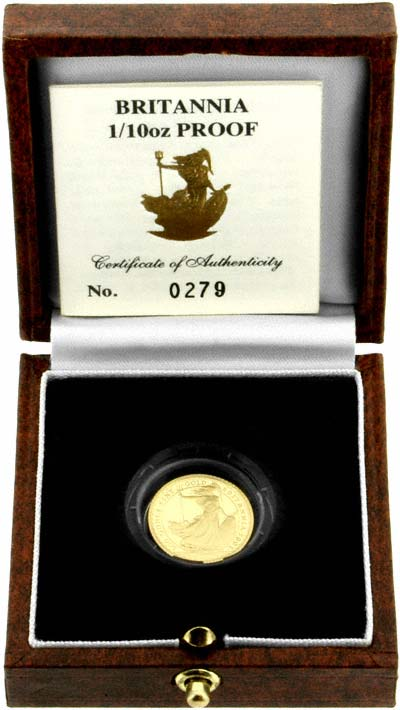 1991 Tenth Ounce Proof Britannia in Box</b>