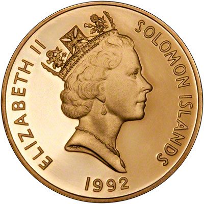 1992 Solomon Islands Gold Proof Coin Set Coral Sea