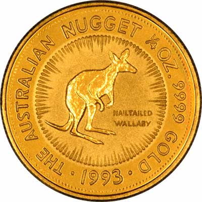 Nailtailed Wallaby on Reverse of 1993 Nugget