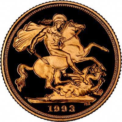 Reverse of 1993 Proof Sovereign