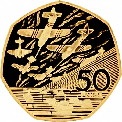 Reverse of 1994 EU Gold Proof Fifty Pence