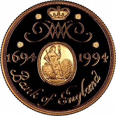 Reverse of 1994 Gold Proof Two Pounds