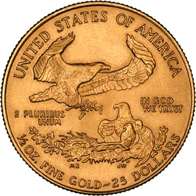 Reverse of Half Ounce Gold Eagle