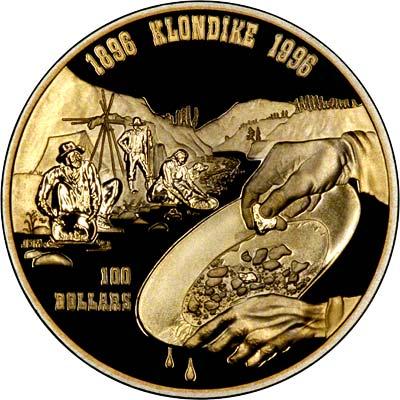 1996 Canadian Gold Proof 100 Klondike Gold Rush
