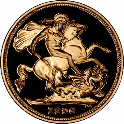Reverse of 1996 Proof Sovereign