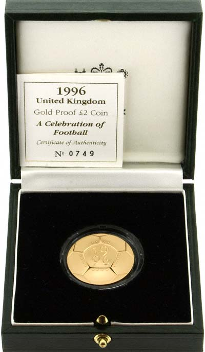 Reverse of 1996 Football £2 Gold Proof