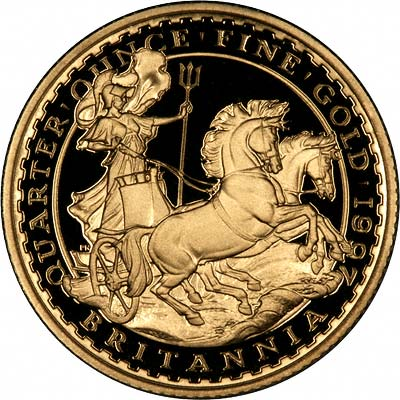 Obverse of Tenth Ounce Gold Britannia