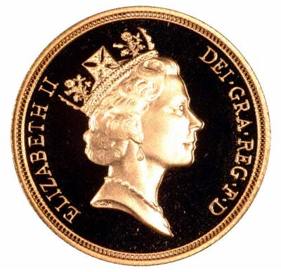 Obverse of 1997 Gold Two Pound Coin