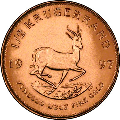 Reverse of Half Ounce Proof  Krugerrand