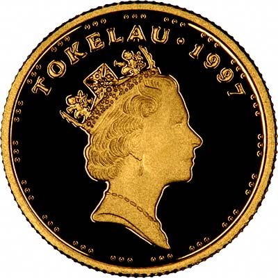 Obverse of 1997 Tokelau Gold Ten Dollars