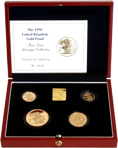 Four Coin Gold Proof Set in Box
