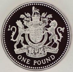 Reverse of 1998 Silver Proof One Pound Coin