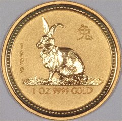 Reverse of 'Year of the Tiger' Gold Coin