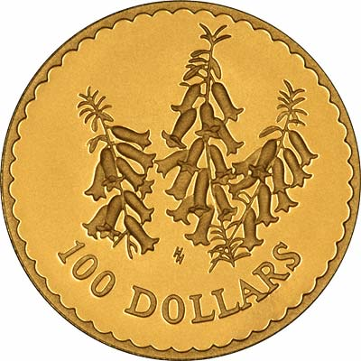 The Common Heath Flower on Reverse of 1999 Australian $100 Gold Proof Coin