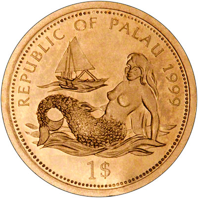 Obverse of 1999 Palau Gold One Dollar