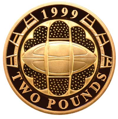 1999 Rugby World Cup Gold £2 Coin