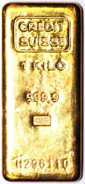 Credit Suisse 1 Kilo Gold Bar