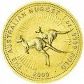 Reverse of One Ounce Gold Australian Kangaroo Nugget