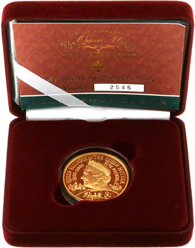 2000 Gold Proof Five Pound Crown in Presentation Box