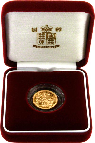2000 Proof Half Sovereign in Presentation Box