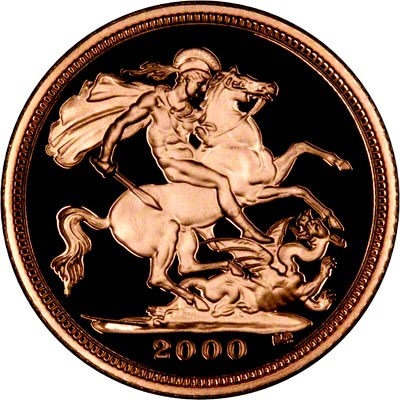 Reverse of Year 2000 Proof Half Sovereign