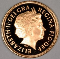 Obverse of 2000 Proof Sovereign