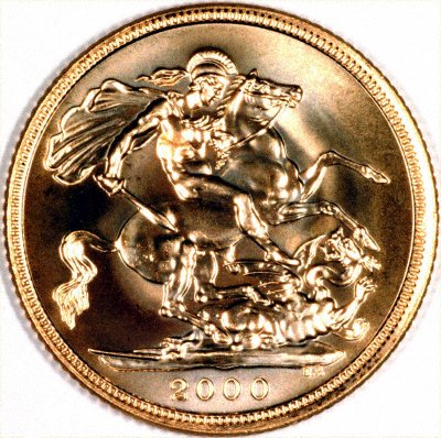 Reverse of 2000 Millennium Proof Sovereign