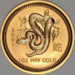 Reverse of 'Year of the Snake' Gold Coin