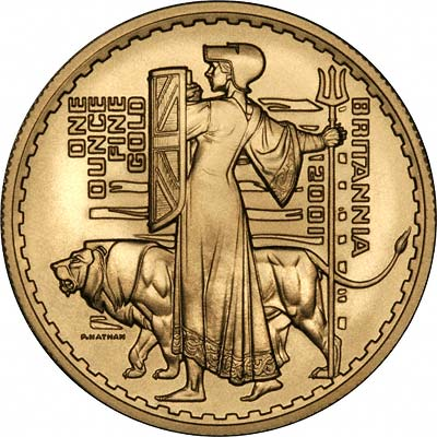 New Reverse Design on 2001 Gold Britannia