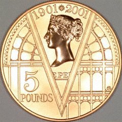 2001 Proof £5 Crown with Reverse Proof Finish