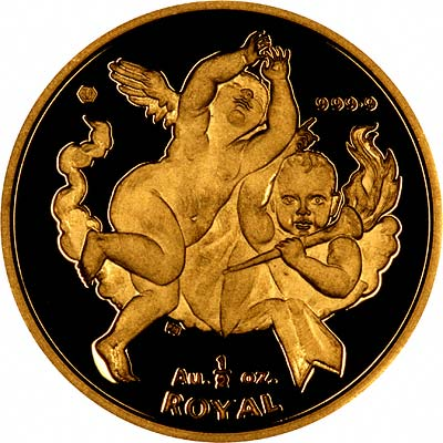Reverse of  2001 Gibraltar Half Ounce Gold Royal Coin