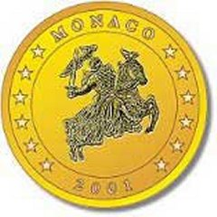 2001 Monaco Euro 50 Cent in Nordic Gold