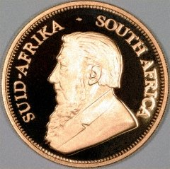 Obverse of 2001 Proof Krugerrand