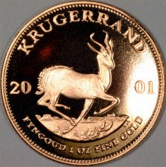 Reverse of 2001 Proof Krugerrand