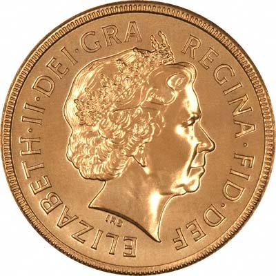 Obverse of 2001 British Gold Sovereign